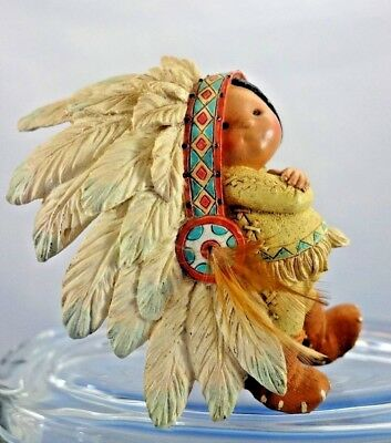 "Friends of the Feather Enesco ""Little Big For Britches"" Boy with HeadDress"