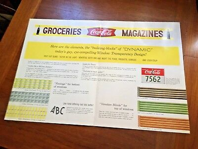 Coca Cola 1950s Window Transparency Designs For Storefront Manual Flyer Paper