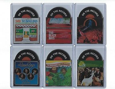 2013'' Beach Boys'' Cards '' Lot Of 6 ''on The Record'' Die Cut'' Near Mint