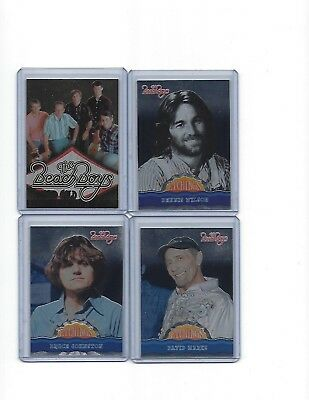 2013'' Beach Boys'' Cards '' Lot Of 4 '' Etchings ''marks'' Johnson''the Band