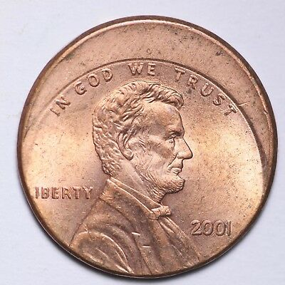 ERROR OFF CENTER 2001 Lincoln Memorial Cent Penny FREE SHIPPING