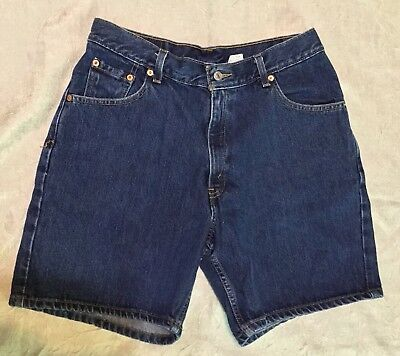 "Levi Strauss Vintage Womens 32"" High Waist Denim Shorts Size 13 Jr"