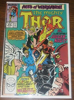 Thor #412 F/VF Acts of Vengeance 1st Full App New Warriors Marvel Comics