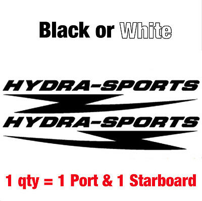 "Set of 2 HYDRA SPORTS Decal stickers  11.25""w.... Buy qty2 get a 3rd set FREE"