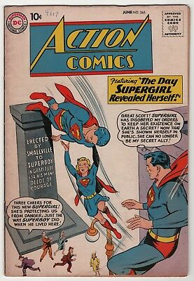 Action #265 solid Supergirl revealed 1960 DC Superman create-a-lot & save