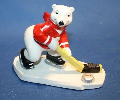 Ice Hockey Coca Cola  Polar Bear  Figurine  1995