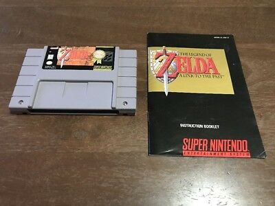 The Legend of Zelda a Link to The Past Nintendo SNES Video Game CART & MANUAL