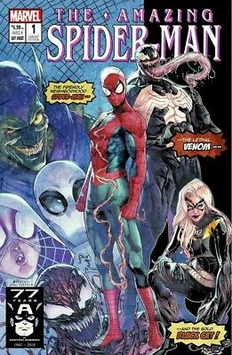 AMAZING SPIDERMAN 1 vol 5 2018 JAMAL CAMPBELL 1000 PRINT VARIANT PRE-SALE 7/11