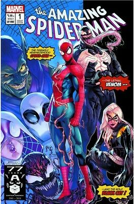 🔥 AMAZING SPIDERMAN 1 vol 5 2018 JAMAL CAMPBELL 3000 PRINT VARIANT PRE-SALE  🔥