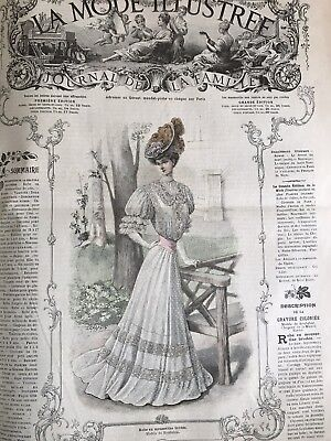 French  MODE ILLUSTREE SEWING PATTERN August 12,1906