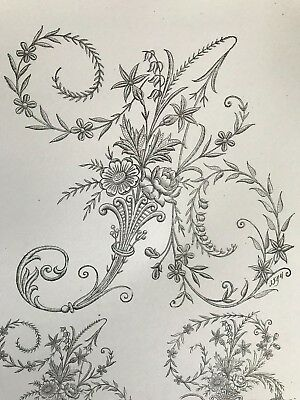 GORGEOUS ALPHABET Edwardian Embroidery Design -N1- Free shipping digital file