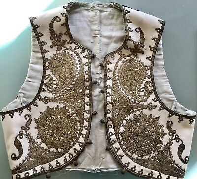Antique Embroidered Ottoman WaistCoat On The Child
