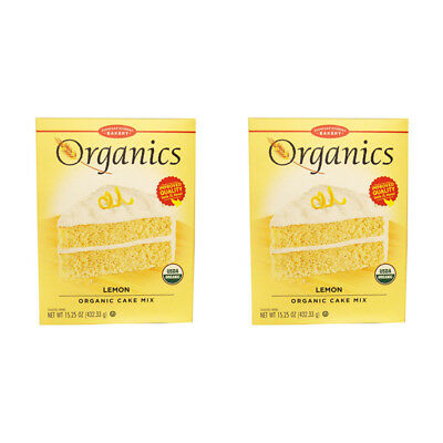 2X European Gourmet Bakery Organics Cake Mix Lemon Baking Items Healthy Foods