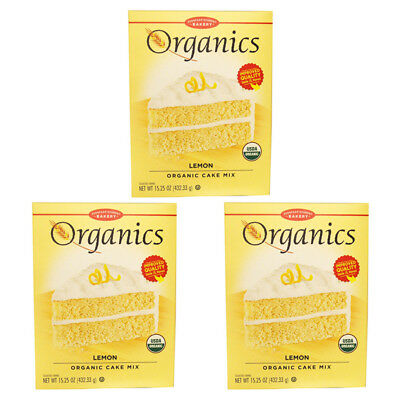 3X European Gourmet Bakery Organics Cake Mix Lemon Baking Items Healthy Foods