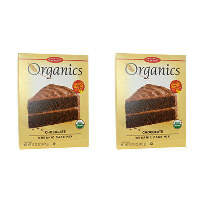 2X European Gourmet Bakery Organics Cake Mix Chocolate Baking Item Healthy Food