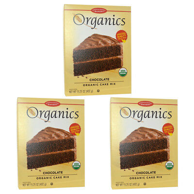 3X European Gourmet Bakery Organics Cake Mix Chocolate Baking Item Healthy Food