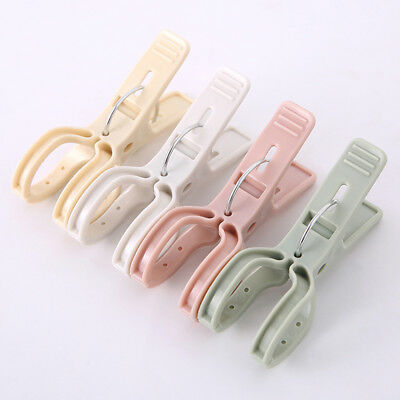 4pcs Large Size Bathroom Bright Color Plastic Beach Towel Clips Quilt Clip T JX