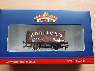 "Bachmann Ltd Edn Exclusive to Collectors Club - 7 Plank Door Wagon ""Horlicks"""