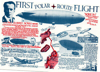 Postcard         First Flight Polar Route    Potted History