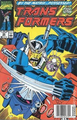 Transformers (Marvel) 1st Printing #66 1990 FN 6.0 Stock Image