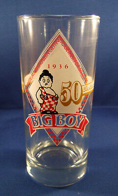FRISCH'S BIG BOY 1986 Commemorative 50th Anniversary Glass