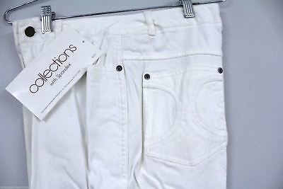 VTG 80s Montgomery Wards Collectibles White Jeans Womens14 &16 Stretch Straight