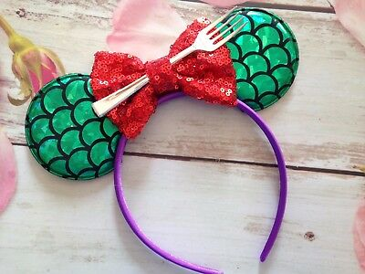 The Little Mermaid-Ariel Minnie Mouse Ears Headband-Disneyland-Disney World-new