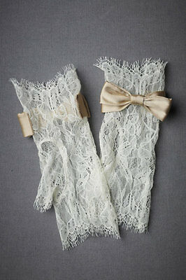 BHLDN Anthropologie Peachy Keen Lace Gloves. NWT.