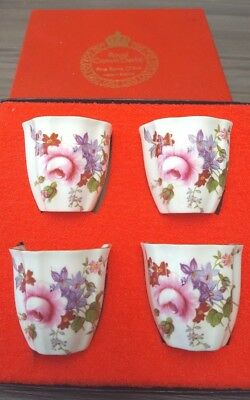 Royal Crown Derby 'Derby Posies' English china egg cups x 4,  boxed