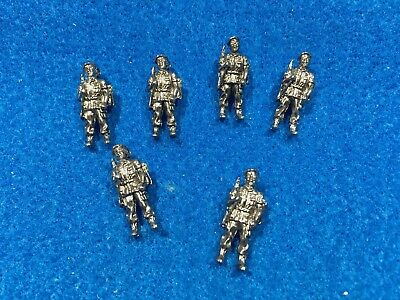 Lot Of 6 1970's Vintage Army Airborne Green Beret Soldier Charms