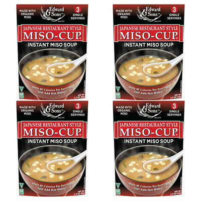 4X Edward & Sons Miso-Cup Japanese Restaurant Style Gluten Free Vegan Healthy