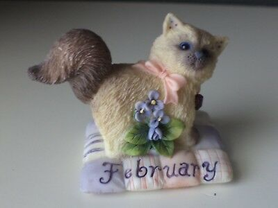 Calico Kittens Cat of the Month - February Amethyst Violet  784796 Enesco