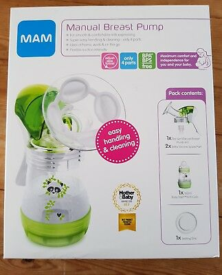 MAM Baby Feeding Manual Breast Pump With 360 Degree Rotational Funnel