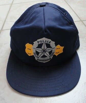 USA Polizeimütze Police Cap Dallas Texas Police Officer Original RAR SELTEN