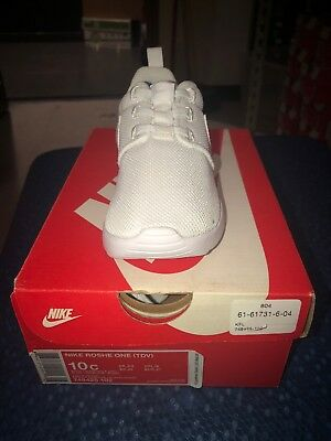 Nike Roshe One (TDV) 749425-102 Triple White Infant Toddler Running Shoes  NEW e6dbce899a