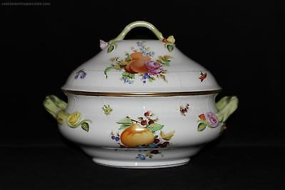 OFFER Herend Porcelain Fruits and Flowers XXL LARGE Tureen China NEW £1340