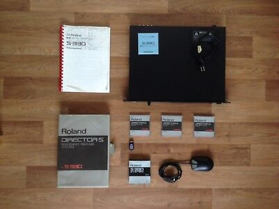 Roland S-330 + Director-S Sequencer Package SYS-333 + 3 System Discs +MU-1 Mouse