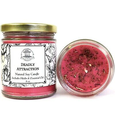 Deadly Attraction Soy Candle Seduction Passion Desire Love Wiccan Pagan Hoodoo