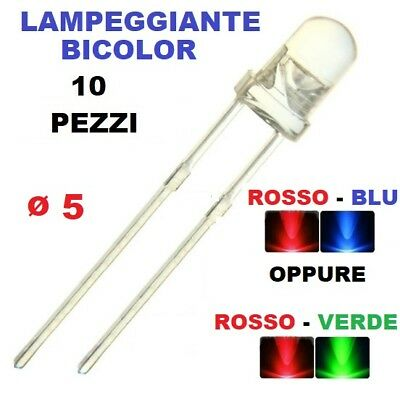 diodo led lampeggiante bicolor diametro 5mm, LED flashing bicolor diode 5mm