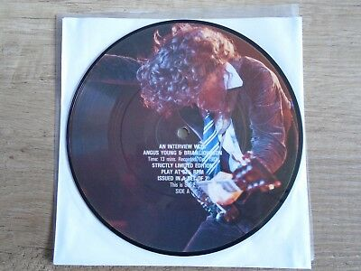 """AC/DC 7"""" Interview Picture Disc"""