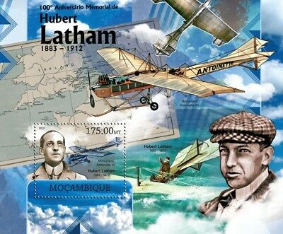 HUBERT LATHAM French Aviation Pioneer / Antoinette Aircraft Stamp Sheet 2 (2012)