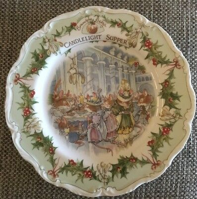Royal Doulton Brambly Hedge. Candlelight Supper Collectors Plate. Perfect