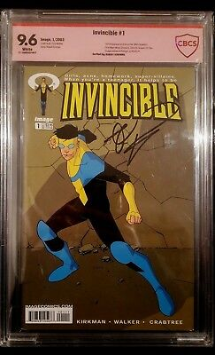 9.6 CBCS Invincible #1 A 2003 Kirkman Signature White Pages US-Comic