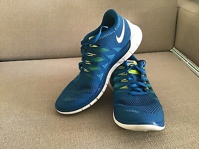 Nike Free 5.0 Men's Trainers/Sneakers Running Shoe 579959 Blue Size 9.5