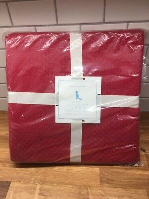 Pottery Barn Classic cotton Kids Baby Crib toddler Bed Red Solid Blanket