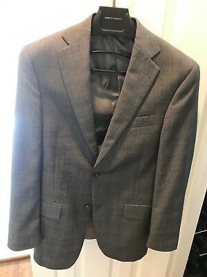 Hart Schaffner Marx 36R Gray Suit Made in USA