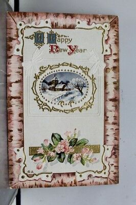 new year a happy postcard old vintage card view standard souvenir postal post pc