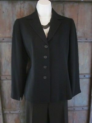 Lafayette 148 Womens Four Button Blazer Dark Navy Work Career Jacket Size 2 / 4