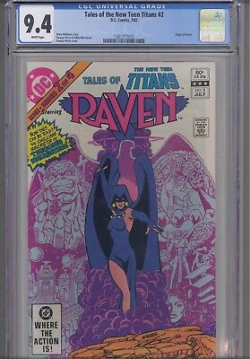 Tales of Teen Titans #2  CGC 9.4 DC 1982 Comic: Origin of Raven: with New Frame