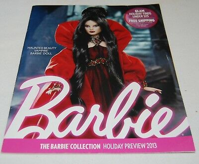 Barbie The Barbie Collection Holiday Preview Catalog Magazine Vampire Goth 2013